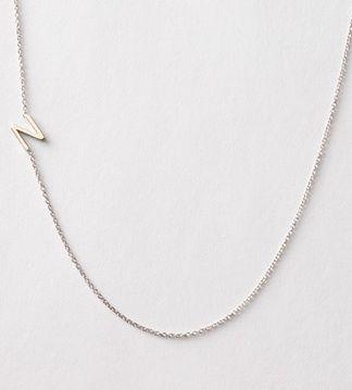 Maya Brenner Designs  Asymmetrical Mini Letter Necklace