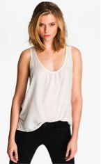 Joie  Dyan Side Panel Silk Tank