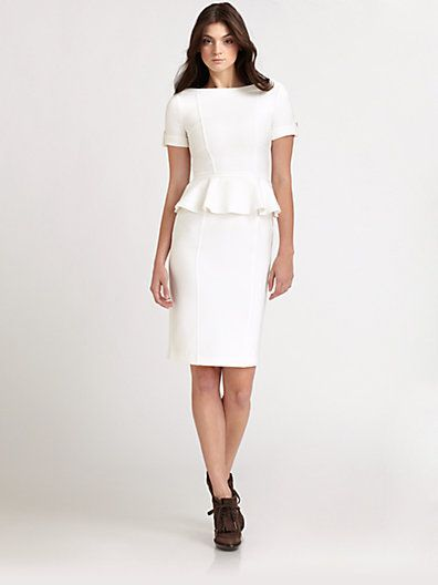 Burberry London  Pelplum Jersey Dress