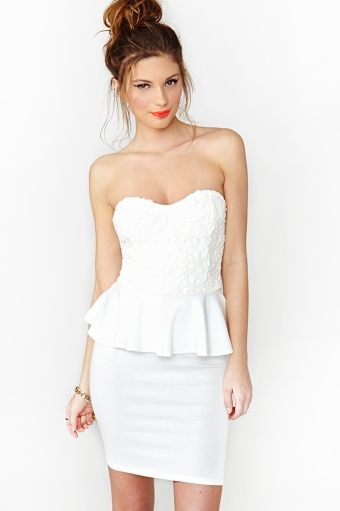 Nasty Gal Daisy Peplum Dress