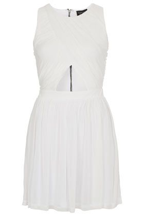 Topshop  Wrap Mesh Skater Dress