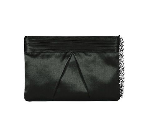 Reiss Lucima Pleated Wristlet Clutch