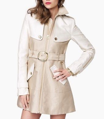 Juicy Couture Colorblock Sateen Trench
