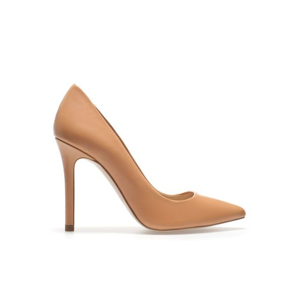 Zara  Leather Court Shoes