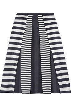 Michael Kors Pleated Wool and Silk-Blend Skirt