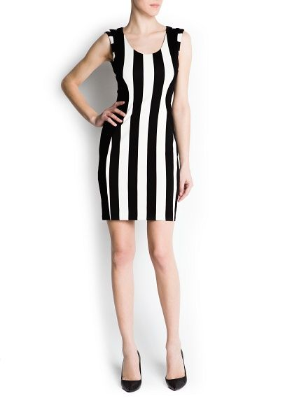 Mango Vertical Stripe Dress