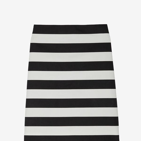 Robert Rodriguez  Striped Pencil Skirt