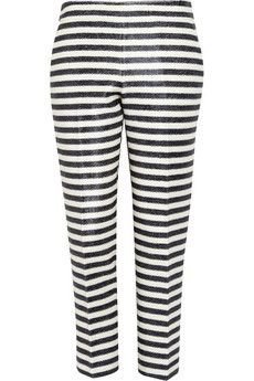 J.Crew Estelle Striped Raffia Pants
