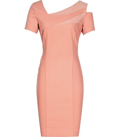 Reiss  1971 Jazz Mesh Insert Dress