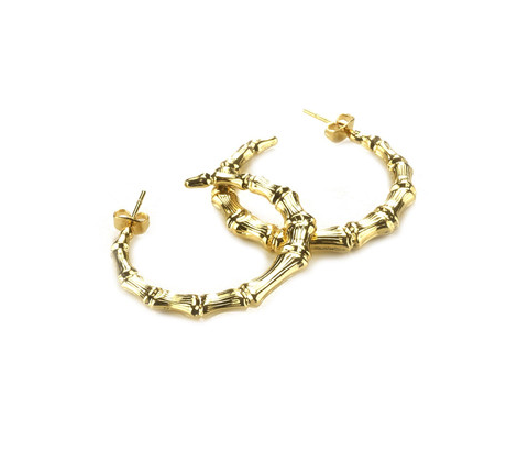 Gogo Philip  Small Bamboo Hoops