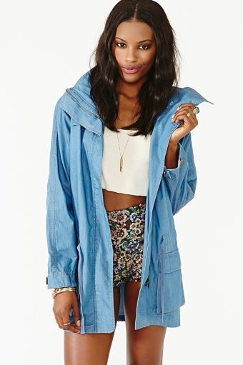 Nasty Gal  Chambray Anorak