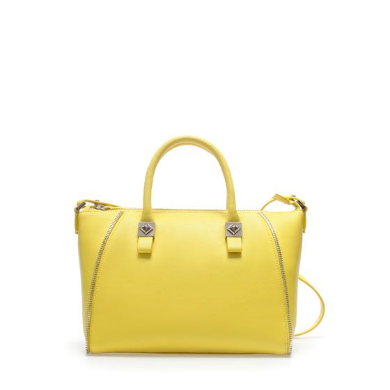 Zara  Mini Bowling Bag with Zips