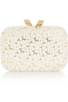 Kotur Margo Floral-Lae Box Clutch