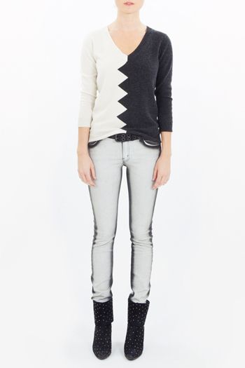 Kelly Wearstler Slither Zig Zag Sweater