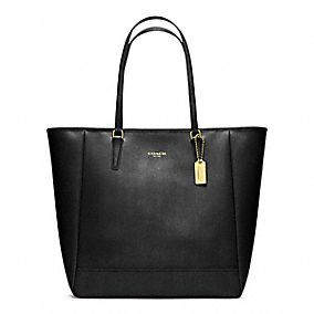 Coach  Saffiano North/South City Tote