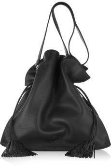 Loewe  Flamenco 36 Large Textured-Leather Should Bag