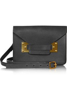 Sophie Hulme   Envelope Mini Textured-Leather Shoulder Bag