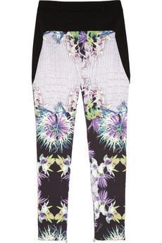 Just Cavalli Printed Stretch Twill Pants