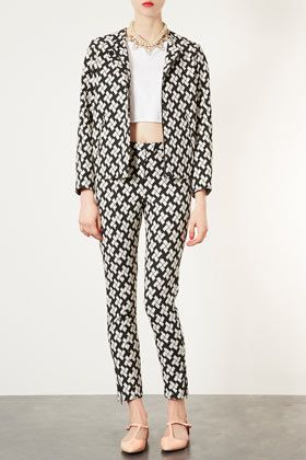 Topshop Printed Oversized Bomber Jacket and Skinny Trousers