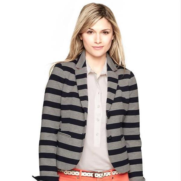 Gap  Grey Stripe Ponte Academy Blazer