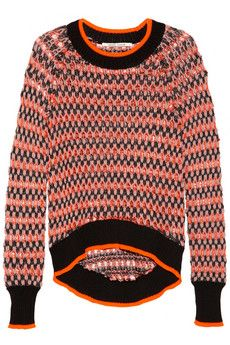 Skaist-Taylor  Neon Open-Knit Sweater