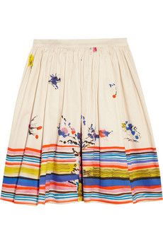 RED Valentino Printed Cotton Skirt