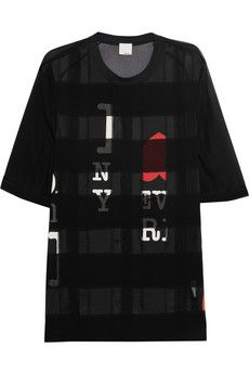 3.1 Phillip Lim Paneled Silk-Chiffon T-Shirt