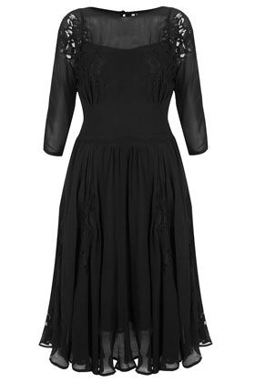 Topshop  Applique Lace Midi Dress