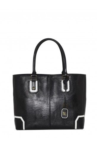 Alice + Olivia  Lizard Embossed Leather Bag