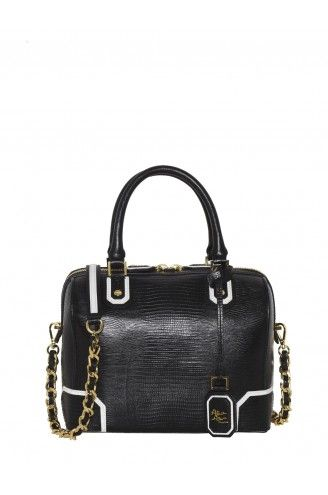 Alice + Olivia  Lizard Embossed Leather D Bag