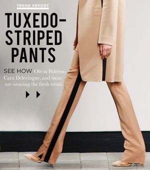 Tuxedo-Stripe Pants