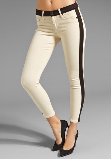 Hudson Leelo Colorblock Skinny Crop Jeans