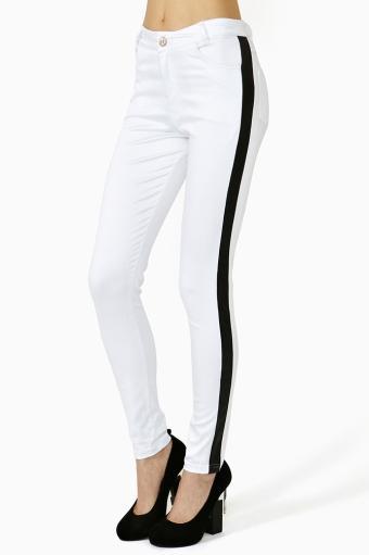 Nasty Gal  Tuxedo Skinny Jeans