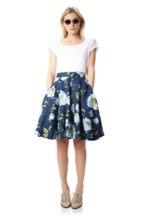 French Connection  Spring Bloom Flared Skirt