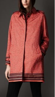Burberry Burberry London Geometric Grid Print Coat
