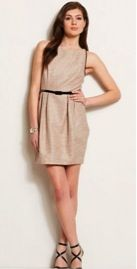 Armani Exchange Armani Exchange Metallic Jacquard Tulip Dress
