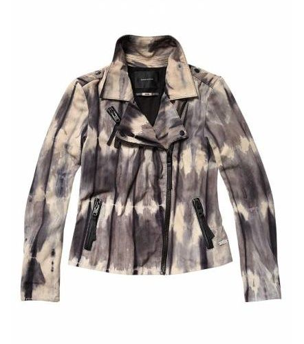 Maison Scotch  Tie-Dye Suede Jacket