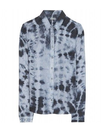 Closed  Tie-Dye Silk Button-Down Shirt