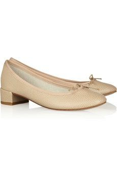 Repetto  Repetto Camille Textured Leather Pumps