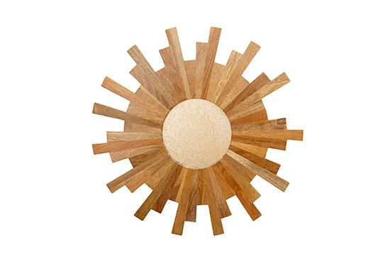 Target Threshold Wood Starburst Mirror