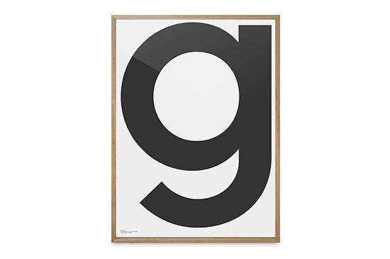 Playtype Grey Poster - G