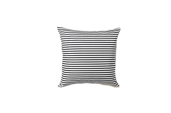 Haus Interior Sailor Charcoal Stripe Pillow