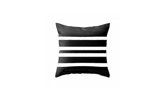 Society 6 Passion & Prints Black & White Stripe Throw Pillow