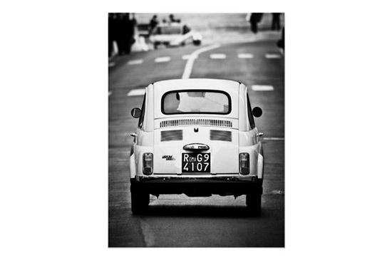 Zazzle Fiat 500, vintage cinquecento, in Rome, Italy Poster