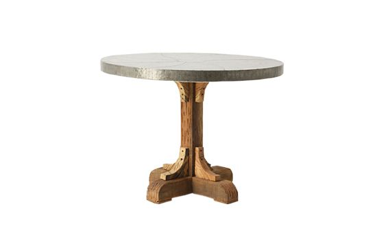 Anthropologie Galvanized Pedestal Table