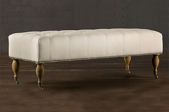 Restoration Hardware Tufted Bench