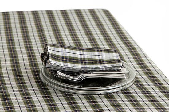 Shop Fog Linen Green Plaid Tablecloth