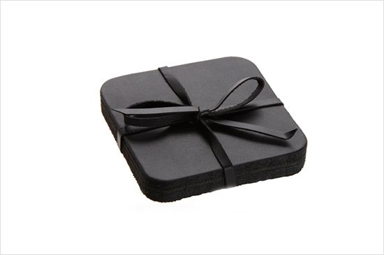 Barneys Leather Coasters