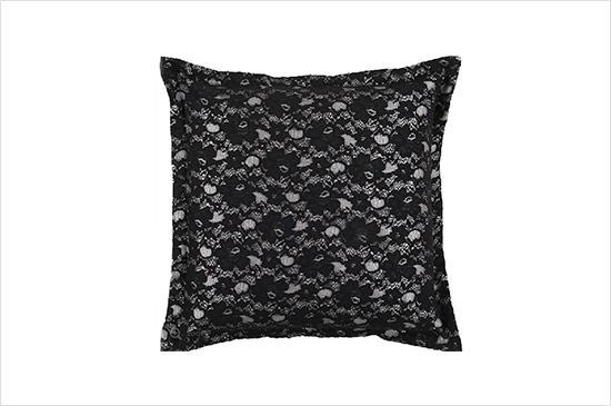 Project Decor Surya Black Lace Pillow