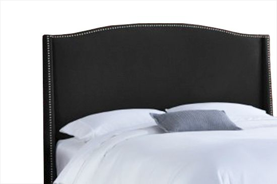 Modern Furniture Nail Button Wingback Headboard